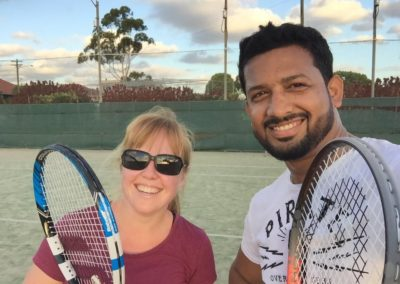 Laura and Syed,, Sydney Central Tennis League