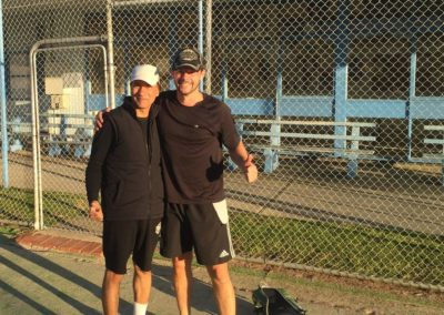 Azam and Steven, Melbourne North Tennis League