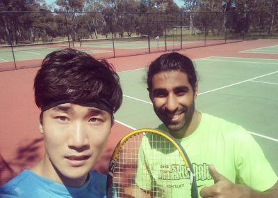 Youngmin and Arya, Adelaide East Tennis League