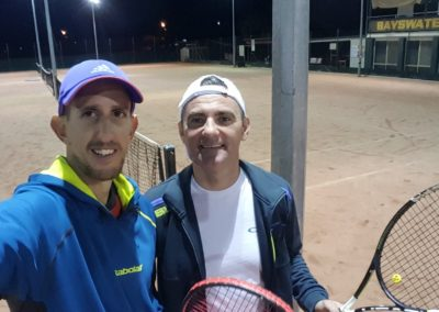 James and Stanimir, Perth North Tennis League