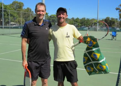 Mike and Daniel, Perth North Tennis League
