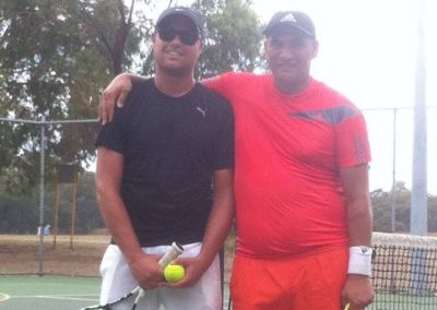 Clinton and Manu, Perth North Tennis League