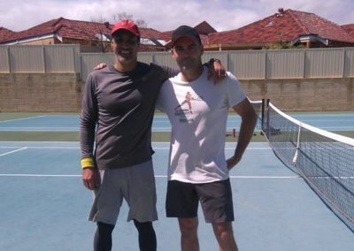 Steve and Rod, Perth North Tennis League