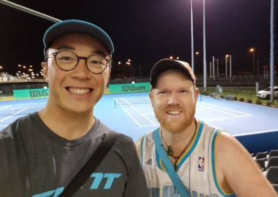 Shing and George, Perth North Tennis League