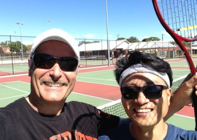 Gaetano and Michael, Adelaide Tennis League